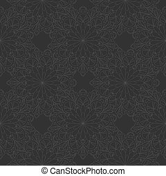 Vector doodle flowers Seamless background