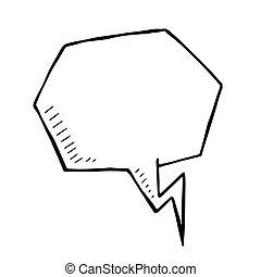 Vector doodle speech bubble, illustration art, isolated
