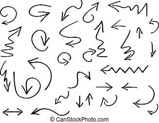 Vector doodle style arrows