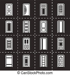 Vector Door icon set