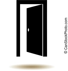 door open - vector door open icon