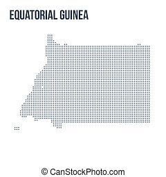 Vector dotted map of Equatorial Guinea isolated on white background .