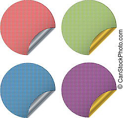 Vector dotted stickers