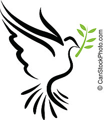 Vector dove - A free flying vector white dove symbol