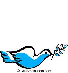 vector dove symbol on white