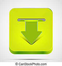 Vector download app icon on white background. Eps 10