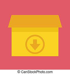 Vector Download Box Icon