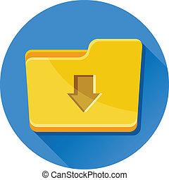 Vector Download Folder Icon