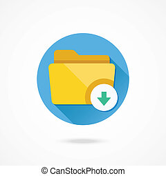 Vector Download Folder Icon