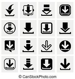 Vector Download icon set