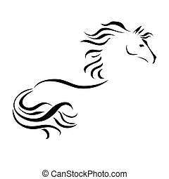 vector drawing horse - vector stylized figure of a horse