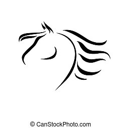 vector drawing horse