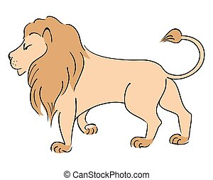 Vector drawing Lion.
