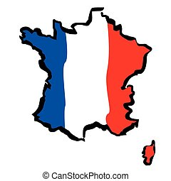 Vector drawing map of France