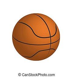 vector drawing of a basketball