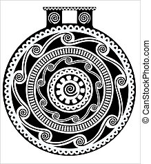 Vector drawing of antique vase