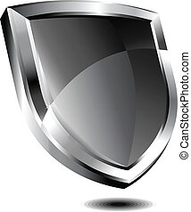 Silver shield - Vector drawing of Silver shield