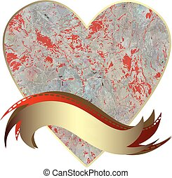 Vector drawing of the heart