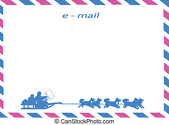 vector drawing of the postal envelope