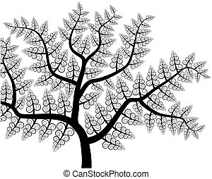 vector drawing of the tree - vector