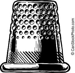 Vector drawing of thimble