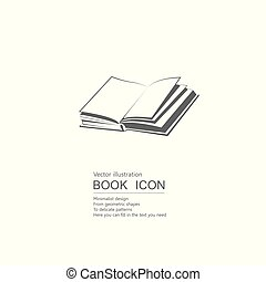 Vector drawn book. Isolated on white background.