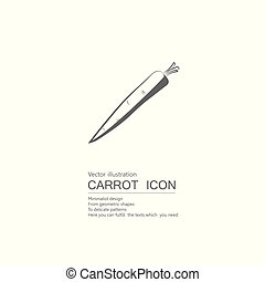 Vector drawn carrots. Isolated on white background.
