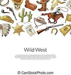 Vector drawn wild west cowboy