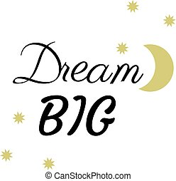 Vector dream big background