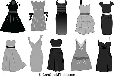 vector, dress-icon
