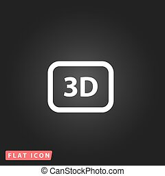 vector, driedimensionaal, pictogram