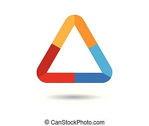 vector, driehoek, pictogram