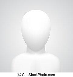 Vector dummy on white background