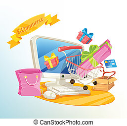 Vector E Commerce Shopping Illustration