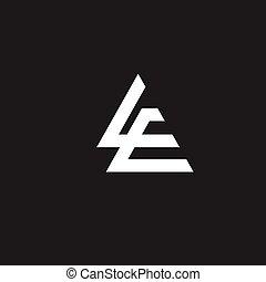 vector, e, l, carta, creativo