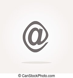 vector E-mail icon glossy button