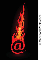 Vector e-mail in flames