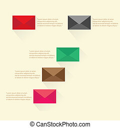 vector e-mail message flat icon. - vector e-mail flat icon....