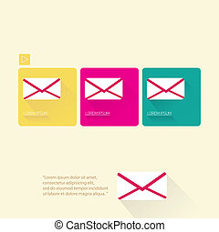 vector e-mail message flat icon.