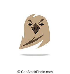 Vector Eagle Cartoon Illustration.
