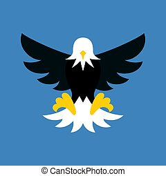 Vector eagle icon, flat design