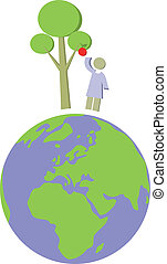 Earth globe set 012