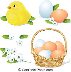vector easter and spring element