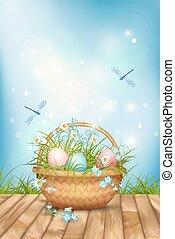 Vector Easter Basket