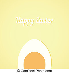 Vector Easter egg yellow card background