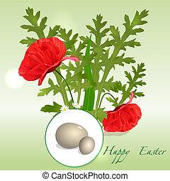 vector Easter floral background