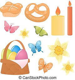 Vector easter icons