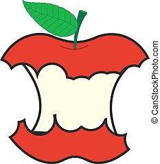Vector Eaten Apple