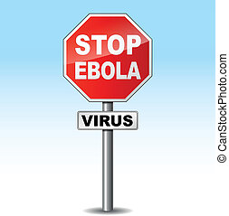 Vector ebola virus sign - Vector illustration of ebola virus...