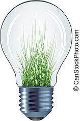 vector eco bulb isolated